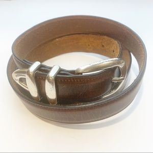 Mens Brown Genuine Leather Belt